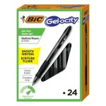 Bic Velocity Retr Gel Roller Ball Pen, 0.7 mm, Black Ink, 24/Pk (BICRLC241BK)