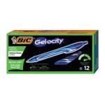 Bic Gel-ocity Quick Dry Retractable Gel, Blue Ink, Med., 1 Dozen (BICRGLCG11BE)