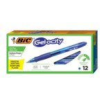 Bic Velocity Roller Ball Retractable Gel Pen, Blue Ink, Dozen (BICRLC11BE)