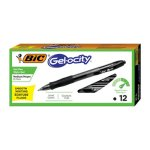 BIC Velocity Roller Ball Retractable Gel Pen, Black Ink, Dozen (BICRLC11BK)