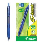 pilot-g-knock-begreen-gel-pen-retractable-blue-fine-point-12-pens-pil31507