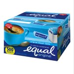 Equal Zero Calorie Sweetener, 1 g, 500 Single Serve Packets (EQL20008699)