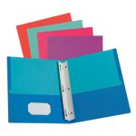 Oxford Twisted Twin Smooth Pocket Folder with Fasteners, Letter (OXF51276)