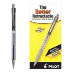 Pilot Better Ballpoint Retractable Pen, Black Ink, Fine, Dozen (PIL30000)
