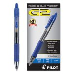 Pilot G2 Gel Pen, Retractable, Refillable, Blue Ink, 0.7mm, Dozen (PIL31021)