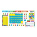 "Trend Year Around Calendar Bulletin Board Set, 22"" x 17"" (TEPT8096)"