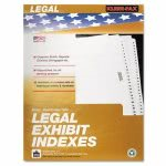 kleer-fax-80000-legal-index-dividers-side-tab-exhibit-f-25-pack-klf81006