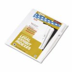 kleer-fax-80000-series-legal-index-dividers-side-tab-printed-6-25pack-klf81116