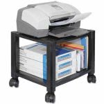 Kantek Mobile Printer Stand, 2-Shelf, 17w x 13-1/4d x 11-7/8h, Black (KTKPS510)
