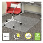 "Deflecto EconoMat Chair Floor Mat, 45"" x 53"", Low Pile, Clear (DEFCM11242COM)"
