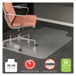 "Deflect-o RollaMat Chair Mat for Med Pile Carpet, 36"" x 48"", Clear (DEFCM15113)"