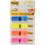 "Post-it Highlighting Flags, Bright, 1/2"" x 1 3/4"", 4 Dispensers (MMM6834ABX)"