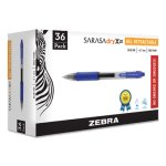 Zebra Sarasa Retractable Gel Pen, Blue Ink, Medium, 36/Pack (ZEB46236)
