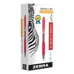 Zebra Sarasa Retractable Gel Pen, Red Ink, Fine, Dozen (ZEB46730)