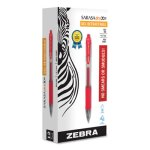 Zebra Sarasa Retractable Gel Pen, Red Ink, Medium, Dozen (ZEB46830)