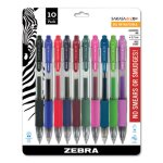 Zebra Sarasa Retractable Gel Pen, Assorted Ink, Medium, 10 per Set (ZEB46881)