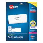 Avery Easy Peel Laser Address Labels, 1-1/3 x 4, White, 350/Pack (AVE5262)
