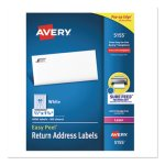 Avery Easy Peel Laser Mailing Labels, 2/3 x 1-3/4, White, 6000/Pack (AVE5155)