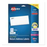 Avery Easy Peel Laser Address Labels, 2/3 x 1-3/4, White, 1500/Pack (AVE5195)