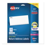 "Avery 5267 White Return Address Labels, 1/2"" x 1-3/4', 2,000 Labels (AVE5267)"
