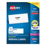 "Avery 5962 Easy Peel White Address Labels, 1-1/3"" x 4"", 3,500 Labels (AVE5962)"
