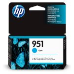 HP 951, (CN050AN) Cyan Original Ink Cartridge, 1 Each (HEWCN050AN)