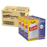 Glad Odor Shield 13 Gallon Garbage Bags, Lavender, 0.95 mil, 240 Bags (CLO78902)