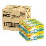 Glad 8 Gallon OdorShield Garbage Bags, 23x21, .57mil, 6 Boxes (CLO78815CT)