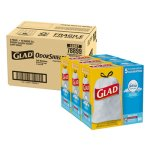 Glad 13 Gallon White Garbage Bags, 24x27, 0.95 mil, 240 Bags (CLO78899)
