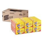 S.o.s. Steel Wool Soap Pad, 4 per Box, 24 Boxes per Carton (CLO98041)
