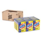 S.O.S. Steel Wool Soap Pad, 15 Pads/Box, 12 Boxes/Carton (CLO88320CT)
