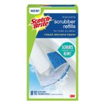 Scotch-Brite Disposable Toilet Scrubber Refill, Blue/White, 6/Pack (MMM558RF4)