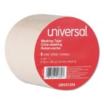 "Universal General Purpose Masking Tape, 3/4"" x 60 yards, 6 Rolls (UNV51334)"