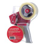 Universal Sealing Tape w/Pistol Grip Dispenser, 60 yds, Clear, 2/Box (UNV91002)