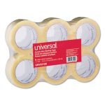 "Universal Box Sealing Tape, 2"" x 110 yards, 3"" Core, Clear, 6/Box (UNV63120)"
