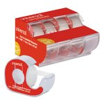 Universal Invisible Tape w/Handheld Dispenser, Clear, Matte, 4 Tapes (UNV83504)