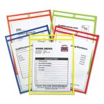 C-line Stitched Ticket Holder, Neon, 5 Colors, 9 x 12, 25 per Box (CLI43910)