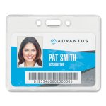 Advantus Proximity ID Badge Holders, 3-3/8 x 2-3/8, Clear, 50 Holders (AVT75450)