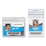 Advantus Resealable ID Badge Holder, Clear, 50 per Pack (AVT75523)