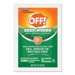 OFF! Deep Woods Insect Repellent Towelettes, 12/Box, 12 Boxes (SJN611072)
