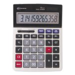 innovera-15971-large-digit-commercial-calculator-dual-power-silver-ivr15975