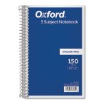 Tops Wirebound 3-Subject Notebook, 9-1/2 x 6, 150 Sheets (TOP65362)