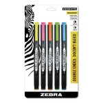 Zebra Double-Ended Highlighter, Chisel/Fine Point Tip, 5/Set (ZEB75005)
