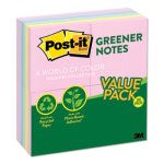 Post-it Recycled Pads, 100 3 x 3 Sheets, Sunwashed Pier, 24 Pads (MMM654RP24AP)