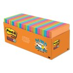 Post-it Super Sticky Notes, 3 x 3, Asst Colors, 70 Sht, 24/Set (MMM65424SSAUCP)