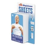 Mr. Clean Magic Eraser Sheets, White, 16/Pack, 8 Packs of Sheets (PGC90618)
