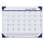 Doolittle EcoTones Monthly Desk Pad Calendar, Blue, 2021 (HOD124640)