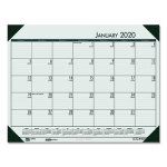 House of Doolittle EcoTones Woodland Green Monthly Desk Pad Calendar, 22 x 17, 2021 (HOD12471)
