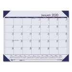 Doolittle EcoTones Monthly Desk Pad Calendar, 22 x 17, Blue, 2021 (HOD12440)
