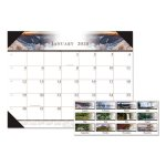Doolittle One-Color Photo Monthly Desk Pad Calendar, 22 x 17, 2021 (HOD140HD)
